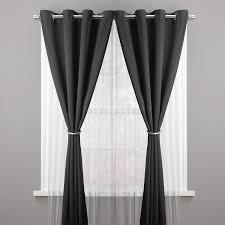No Drill Window Curtain Rod by Amazon Com Umbra Halo Drapery Holdback Metallic Pewter Home