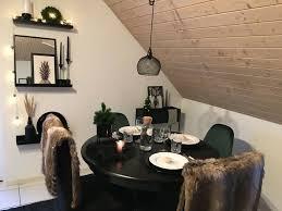 esstisch runder tisch esszimmer mit ikea henriksdal stuhl