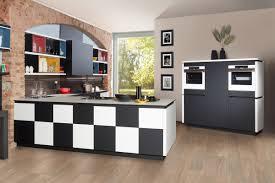 bauformat design küche in l form schachbrettmuster schwarz weiß
