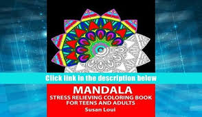 FREE DOWNLOAD Mandala Stress Relieving Coloring Book For Teens And Adults 35 Patterns