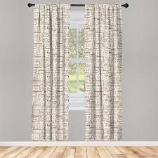 gardine fensterbehandlungen 2 panel set für wohnzimmer schlafzimmer dekor abakuhaus creme umber americano kaffee kaufen otto