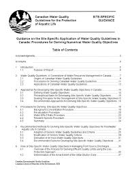 Water Soluble Pumpkin Seed Extract Canada by Guidance On The Site Specific Application Of Water Quality
