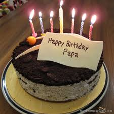 The name papa is generated on Cute Birthday Cake For Friends With Name image