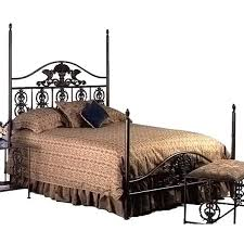 Harvest Wrought Iron Headboard Curved Top Rail Tall Posts