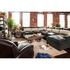 Darrin Leather Sofa From Jcpenney by Sectional Sofa Ventura Charcoal Collection From Ultimate Comfort