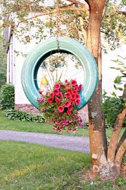Rustic Tire Flower Planters Wedding Decor Deerpearlflowers