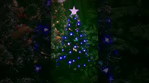 Fibre Optic Christmas Trees Uk by Christmas Tree World 3ft Black Blue Star Fibre Optic Tree Youtube