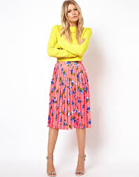 asos pleated midi skirt in floral print what to wear u2014 fashion