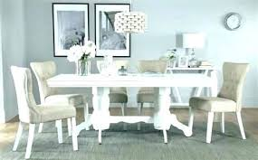 White Dining Room Table Set Black Chairs