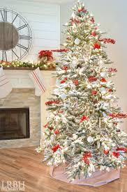 Hayneedle Flocked Christmas Trees by Flocked Christmas Tree Decorating Ideas U2013 Decoration Image Idea