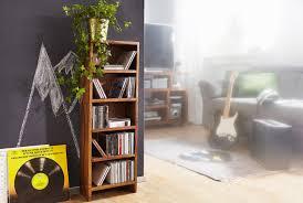 wohnling cd regal mumbai massivholz sheesham standregal 90 cm hoch