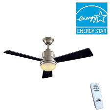 Hampton Bay Ceiling Fan Manual Remote Control by Hampton Bay Trieste 52 In Indoor Brushed Nickel Ceiling Fan With