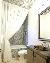 Small Bathroom Window Curtains by Curtain Ideas For Bathroommaking Your Bathroom Look Larger With