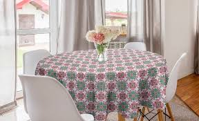 abakuhaus tischdecke kreis tischdecke abdeckung für esszimmer küche dekoration ethnisch boho style mosaik inspiriert kaufen otto