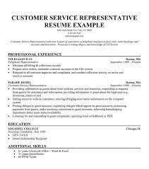 Customer Service Resume Sample Cv Examples Inside For