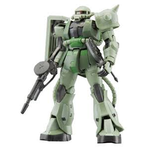 Bandai Real Grade MS-06F Zaku II Robot Model Kit - 1:144 Scale