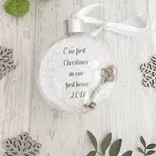 Christmas Tree Name Baubles by First Home First Home Bauble Christmas Bauble Christmas