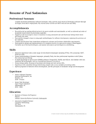 Resume Summary Statement Examples 2017 69 Images Customer