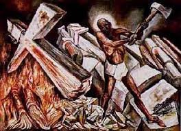 Jose Clemente Orozco Murals by Jose Clemente Orozco Jesus Destroys His Cross Gianna U0027s Thoughts