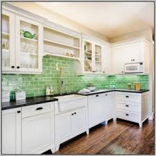 green glass subway tile kitchen backsplash tiles home
