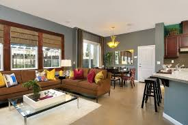 Modern Home Decor With Dining Room Living Combo Together Kitchen Also
