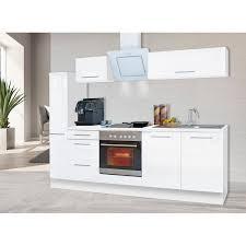 respekta premium küchenzeile 240 cm weiß hochglanz