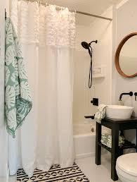 Shower Curtain Ideas For Small Bathrooms Small Bathroom Makeover Ideas Hallstrom Home