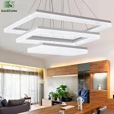 moderne rechteck led acryl pendelleuchten chrom aluminium dimmbare led pendelleuchte für wohnzimmer minimalismus luminaria le