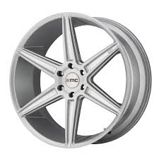 100 Rims Truck KMC Prism KM712 Wheels 24x10 6x135 Brushed Silver 30