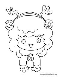 Nativity Ox Seated Christmas Lamb Coloring Page