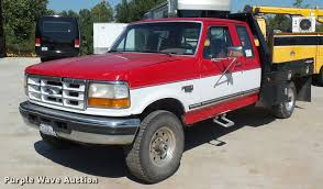 100 1996 Ford Truck F250 SuperCab Flatbed Pickup Truck Item L4250