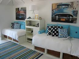 Day Bed Ikea Bedroom Tropical With Decorative Pillows Under Storage White Floors