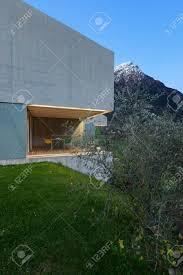 100 Concrete House Design Architecture Modern Detail Evening Stock