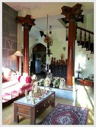 The Antique Pillars Have Been Incorporated In Such A Way So As To Create An Open Chettinad HouseWooden PillarsIndian