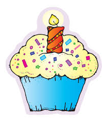 Cartoon Birthday Cupcake Clipart