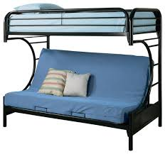 fordham c style metal twin over full futon bunk bed w smooth