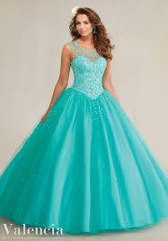 quinceanera dress 89081 beaded tulle ball gown quíncєαñєrα