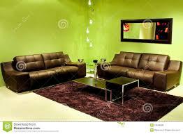 grünes wohnzimmer stockfoto bild le leder grün