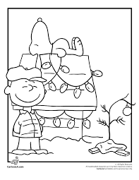 Charlie Brown Christmas Coloring Page With Snoopy