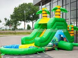 Free Shipping Garden Jungle Inflatable Pool Water Slides For Sale