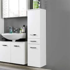 hochglanz badschrank sagunis in weiß