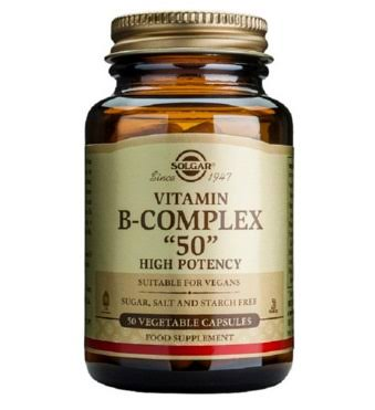 "Solgar B-Complex ""50"" Dietary Supplement - 50 Capsules"