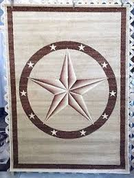 Western Texas Star Rustic Country Southwest Lodge Cabin Area Rugs Carpet