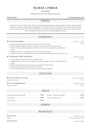 Technician Resume Templates 2019 (Free Download) · Resume.io Technology Resume Examples And Samples Mechanical Engineer New Grad Entry Level Imp 200 Free Professional For 2019 Sample Resume Experienced It Help Desk Employee Format Fresh Graduates Onepage Entrylevel Lab Technician Monstercom Retail Pharmacy Velvet Jobs Job Technical Complete Guide 20 9 Amazing Computers Livecareer Electrical Fresh Graduate Objective Ats Templates Experienced Hires