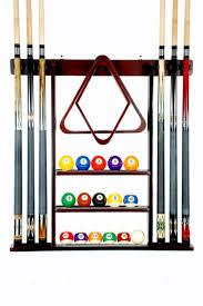 Billiard stick pool cue rack mahogany finish