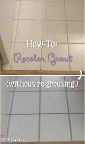 want a new look for your grout take a look at this simple how to