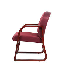 100 Burgundy Rocking Chair Boss Mahogany Frame Side In Fabric Boss