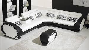 canapé d angle cuir au design contemporain okyo mobilier moss