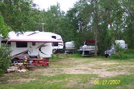 RV Sites Are All Treed For Privacy Yet Close Enough You To Visit Each Other