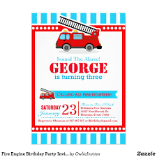 Fire Engine Birthday Party Invitation | Pinterest | Party ...